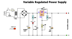 1.2-30V 0.5A Variable DC source for lab applications